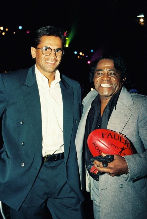 Nicky Winmar and James brown